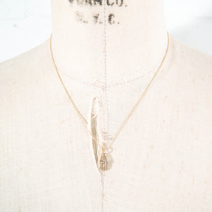 14k Gold & Diamond Hamsa Charm Necklace