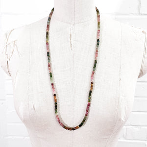 Watermelon Tourmaline Strand Necklace