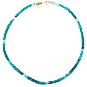 Blue-Green Ethiopian Opal Necklace