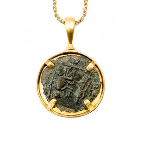 Genuine Ancient Roman Coin Necklace (AURELIAN; 270-275 A.D.)