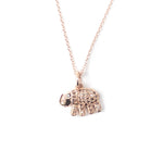 14k Rose Gold & Diamond Elephant Charm Necklace