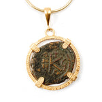 Genuine Ancient Justinian Byzantine Coin Necklace (JUSTINIAN I, 20 NUMMIS; 527-565 A.D.)