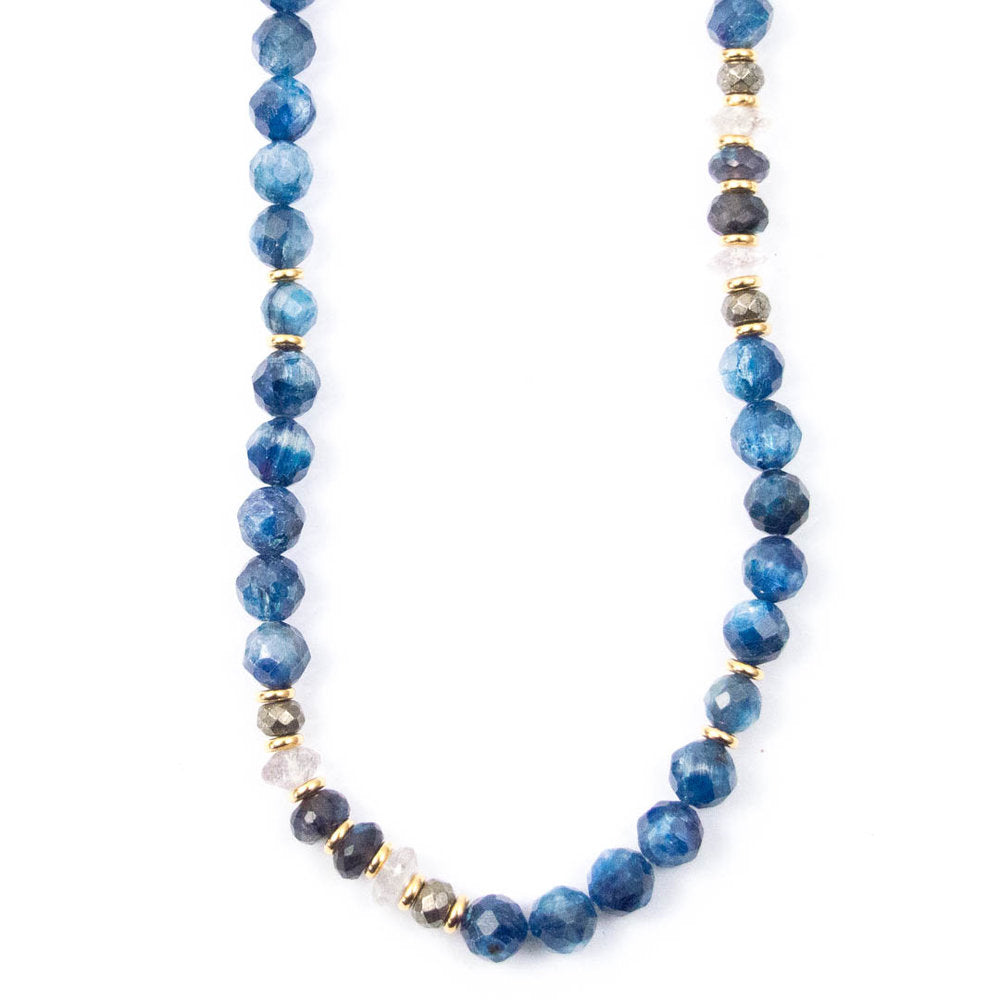 KYANITE & BLACK LABRADORITE NECKLACE