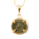 Genuine Ancient Roman Coin Necklace (CONSTANTINE THE GREAT (WINGED VICTORY), 306-337 A.D.)
