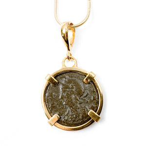 Genuine Roman Coin Necklace (ROMULUS & REMUS; 333-334 A.D.)
