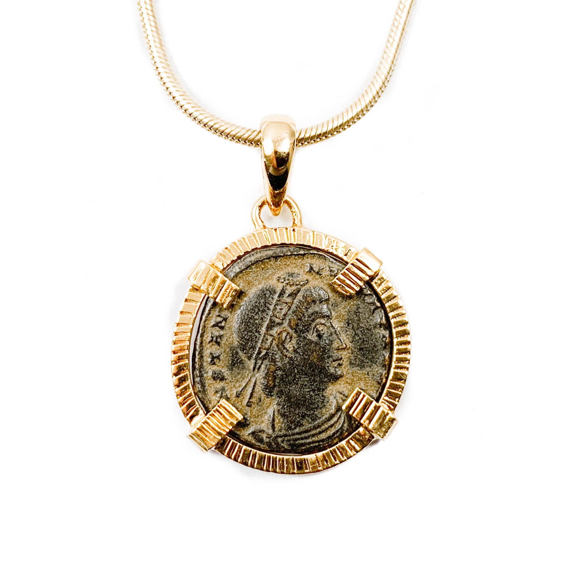 Genuine Ancient Roman Coin Necklace (CONSTANTIUS II; 337-361 A.D.)