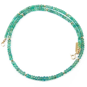 Natural Zambian Emerald Collar Necklace