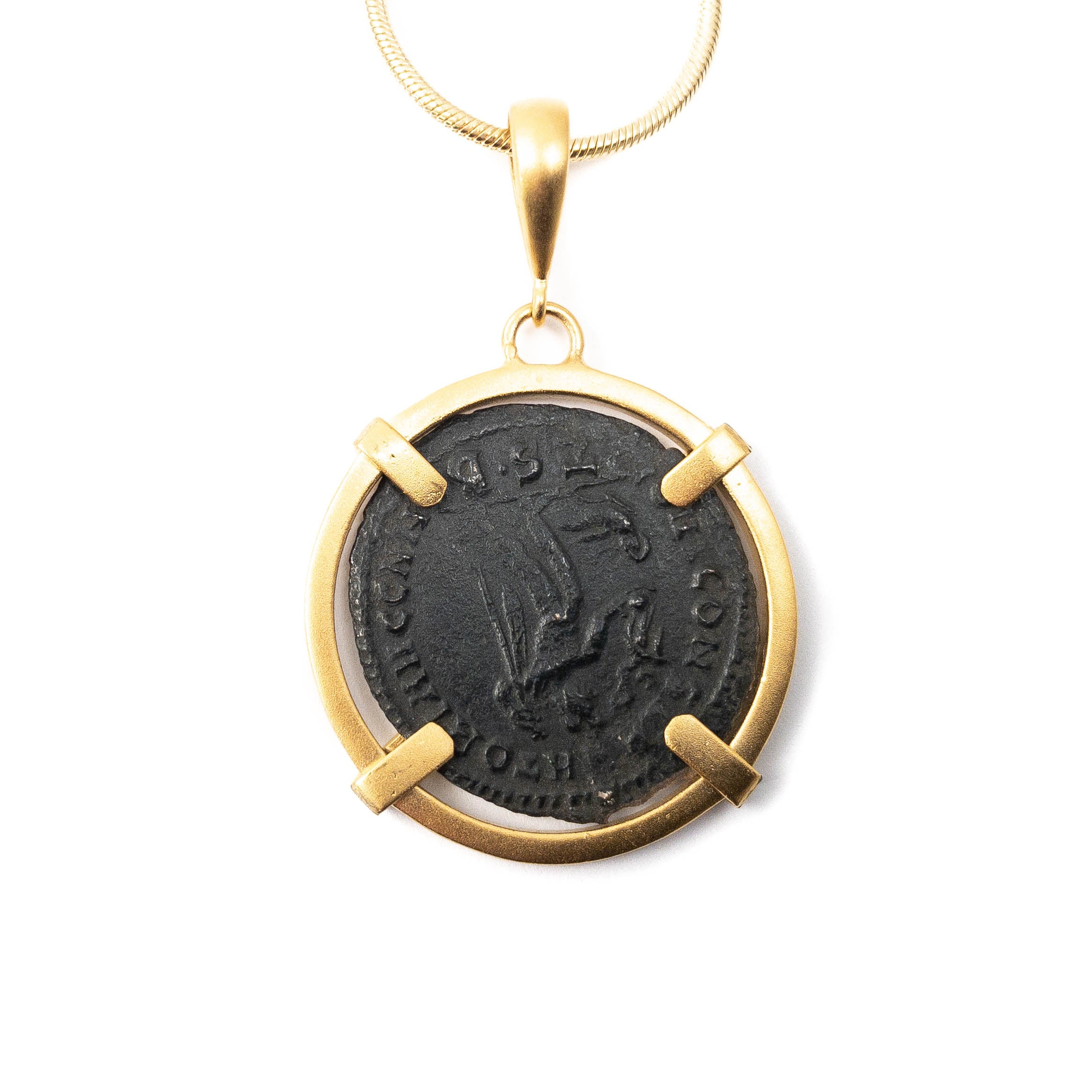 Genuine Ancient Roman Coin Necklace (CONSTANTINE THE GREAT, 306-337 A.D.)
