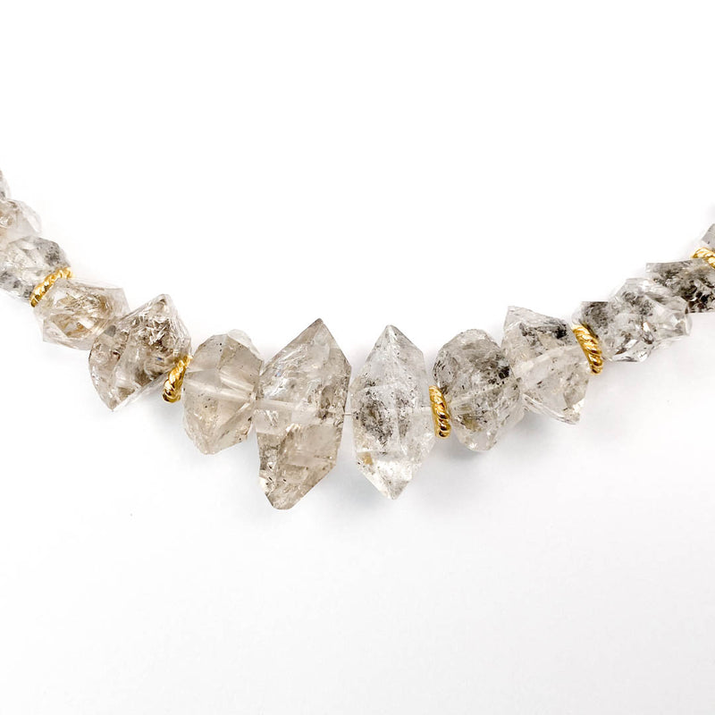 Herkimer Diamond Quartz Statement Necklace