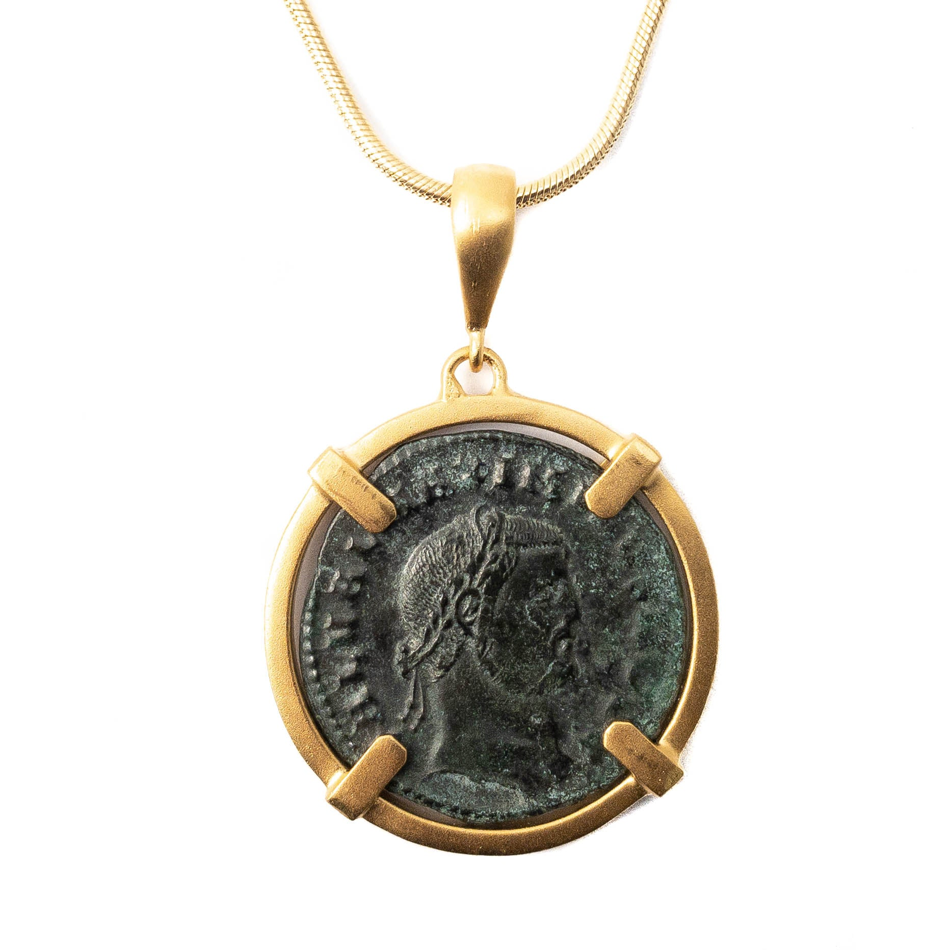 Genuine Ancient Roman Coin Necklace (MAXIMINUS II, 308-313 AD)