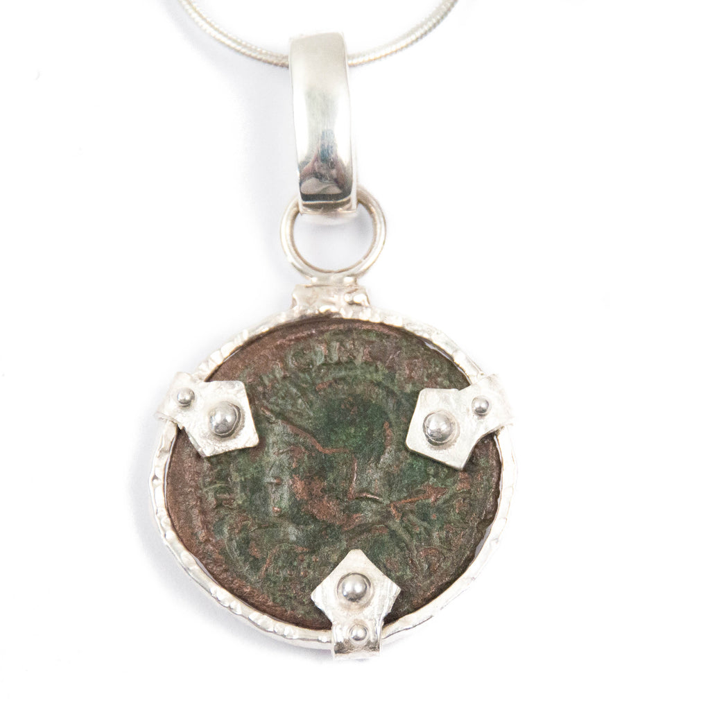 Genuine Roman Coin Sterling Necklace (LICINIUS; 308-324 A.D.)