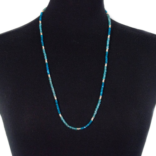 Multi-Color Blue Apatite Strand Necklace