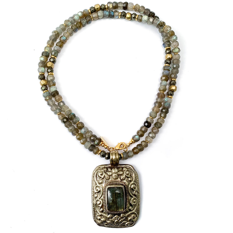 Nepali Labradorite Statement Necklace