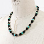 Black Spinel & Arizona Sleeping Beauty Turquoise Necklace