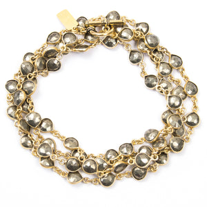 GOLD PYRITE CHAIN NECKLACE