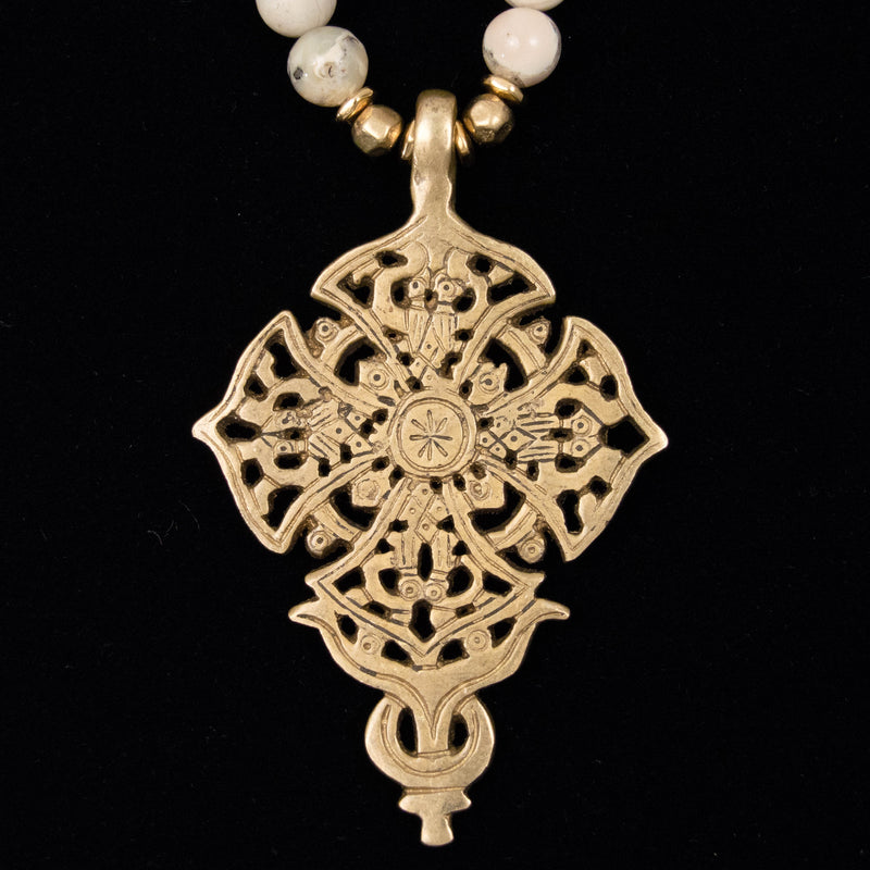 hand-cast brass cross pendant made in Ethiopia Christianity Christian Christ religious religion spiritual