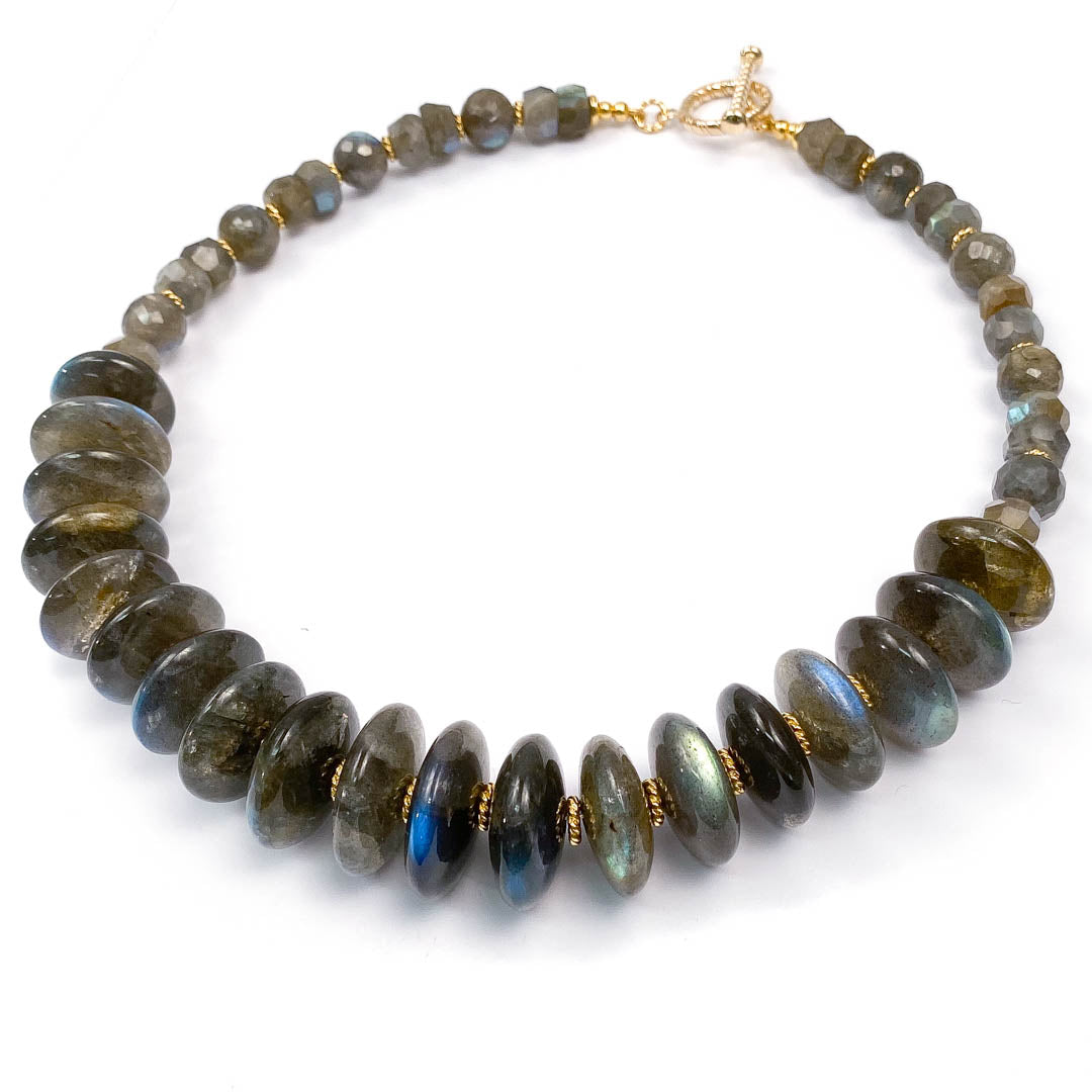 Large Labradorite Statement Necklace
