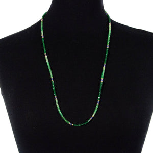 Tsavorite Garnet & Tanzanite Strand Necklace