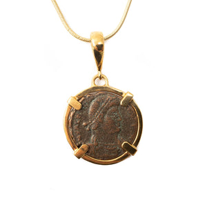 Genuine Ancient Roman Coin Necklace (Valentinian I, 364-375 A.D.)