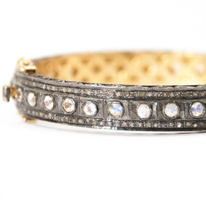 Moonstone & Pavé Diamond Bracelet