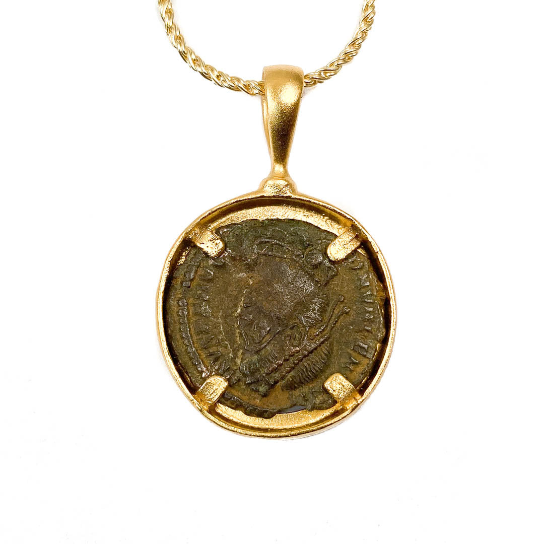 Genuine Ancient Roman Coin Necklace (CONSTANTINE THE GREAT, 306-337 AD)