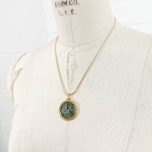 14k Gold Filled Ancient Jesus Christ/Virgin Mary Byzantine Coin Necklace (Romanus IV Diogenes; 1068-1071 AD)