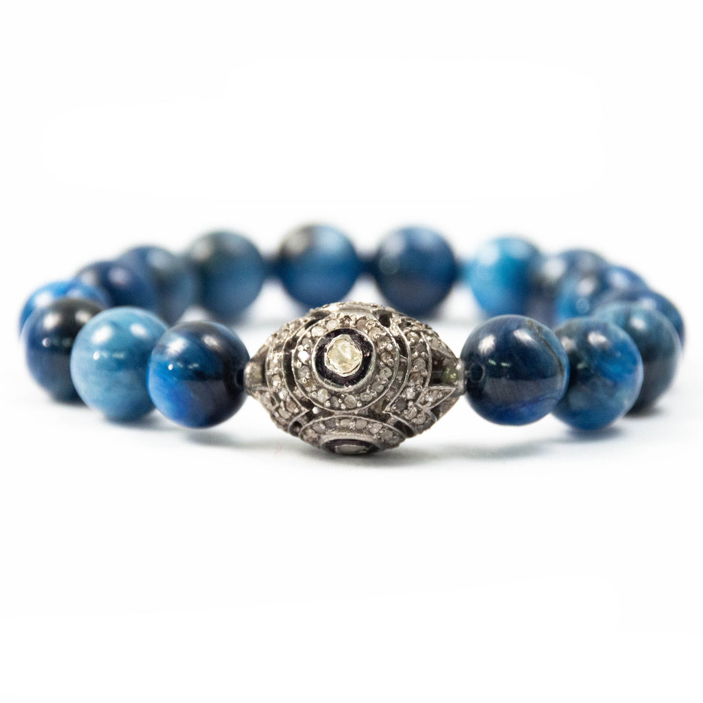 Pavé Diamond & Blue Kyanite Bracelet