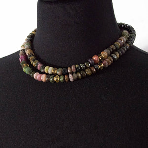 Tourmaline & Citrine Necklace