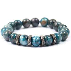 KYANITE & PAVÉ DIAMOND SPACER BRACELET