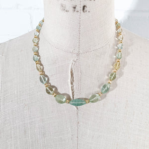 Aquamarine & Ethiopian Opal Statement Necklace