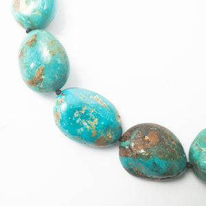 AAA Quality Undyed Arizona Kingman Turquoise Nugget Necklace