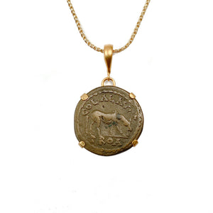 Genuine Ancient Roman Coin Necklace (GALLIENUS; 253-268 A.D.)