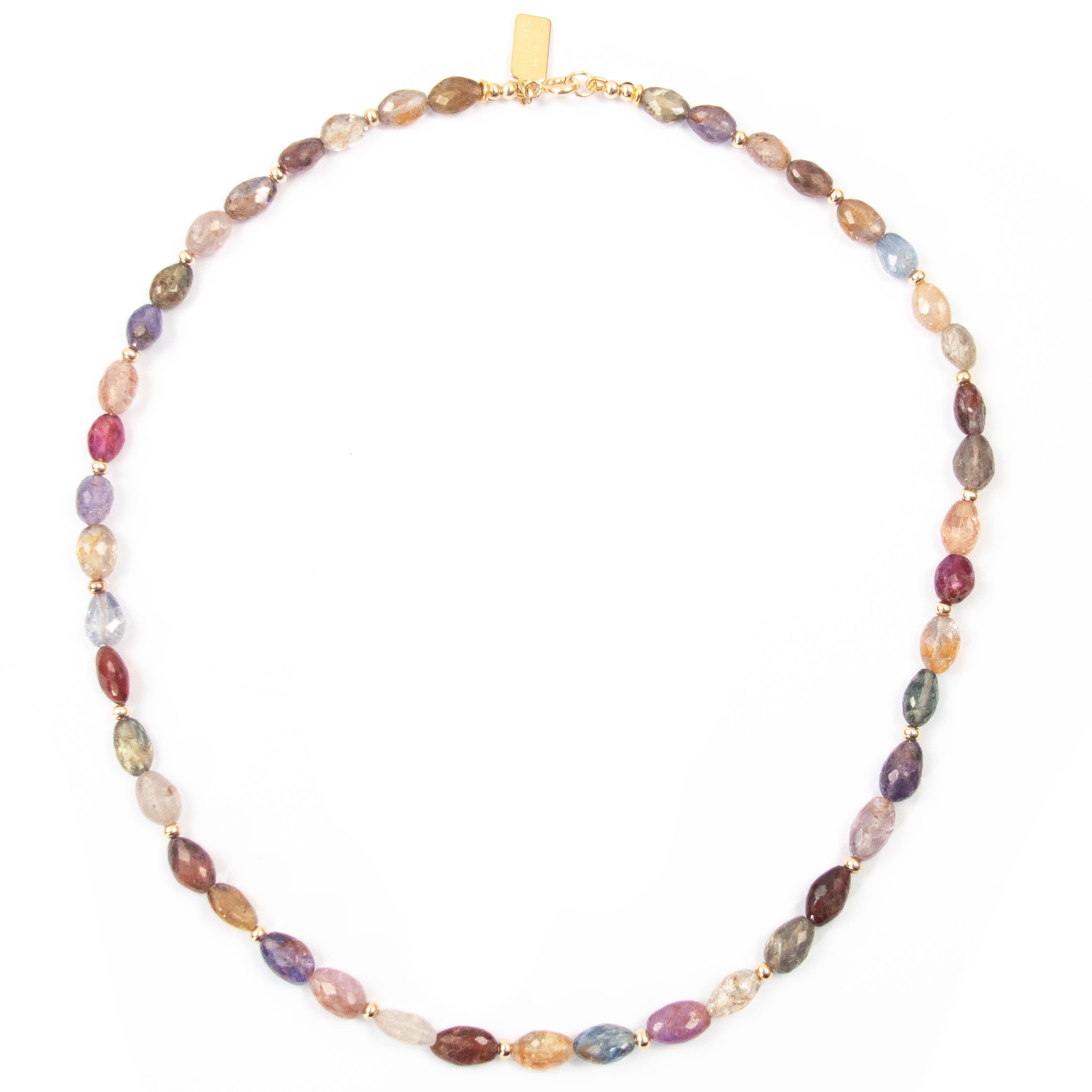 Multi-Color Natural Sapphire Necklace