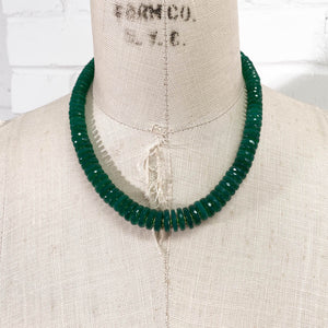 Emerald Green Chalcedony Necklace