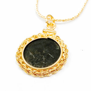 14k Gold Filled Ancient Roman Coin Necklace (CONSTANTINE THE GREAT, 306-337 AD)