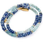 Blue Kyanite and Blue Zircon Strand Necklace