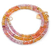 14k Gold Pink/Orange Songea Sapphire Strand Necklace