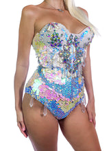 Load image into Gallery viewer, Crystal Quartz Cowgirl Bodysuit