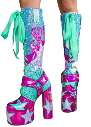The Cosmic Kidd Platform Cowgirl Boots