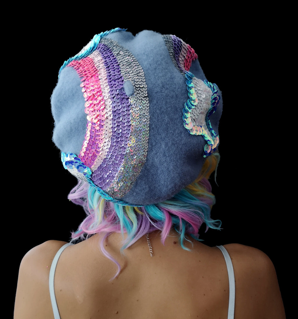 Cloud Fairy Sequin Beret