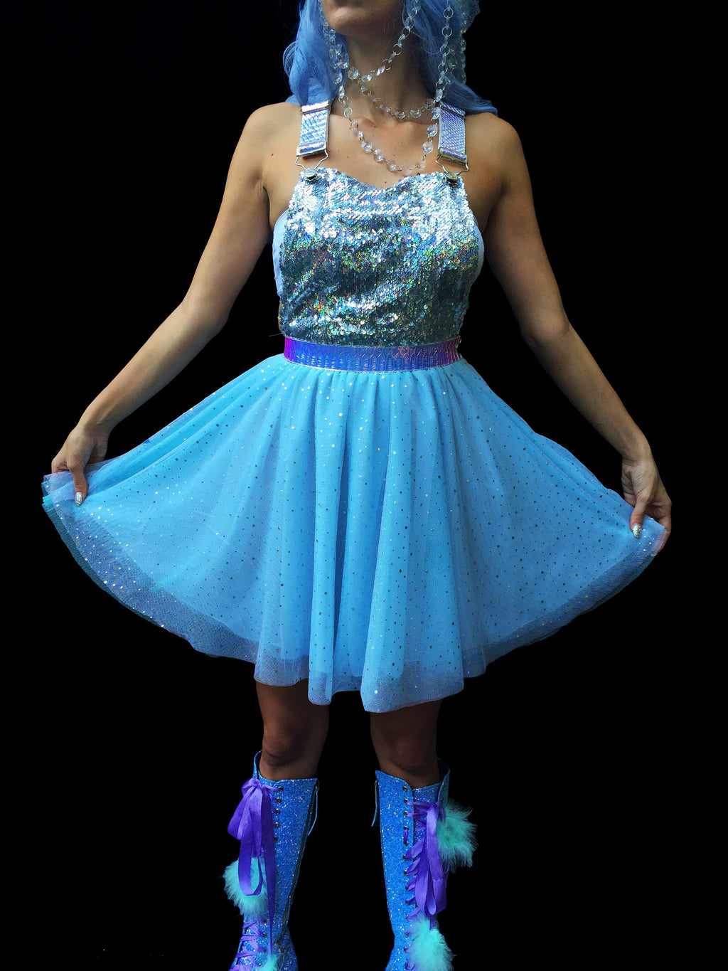 Space Spectrum Overall Dress