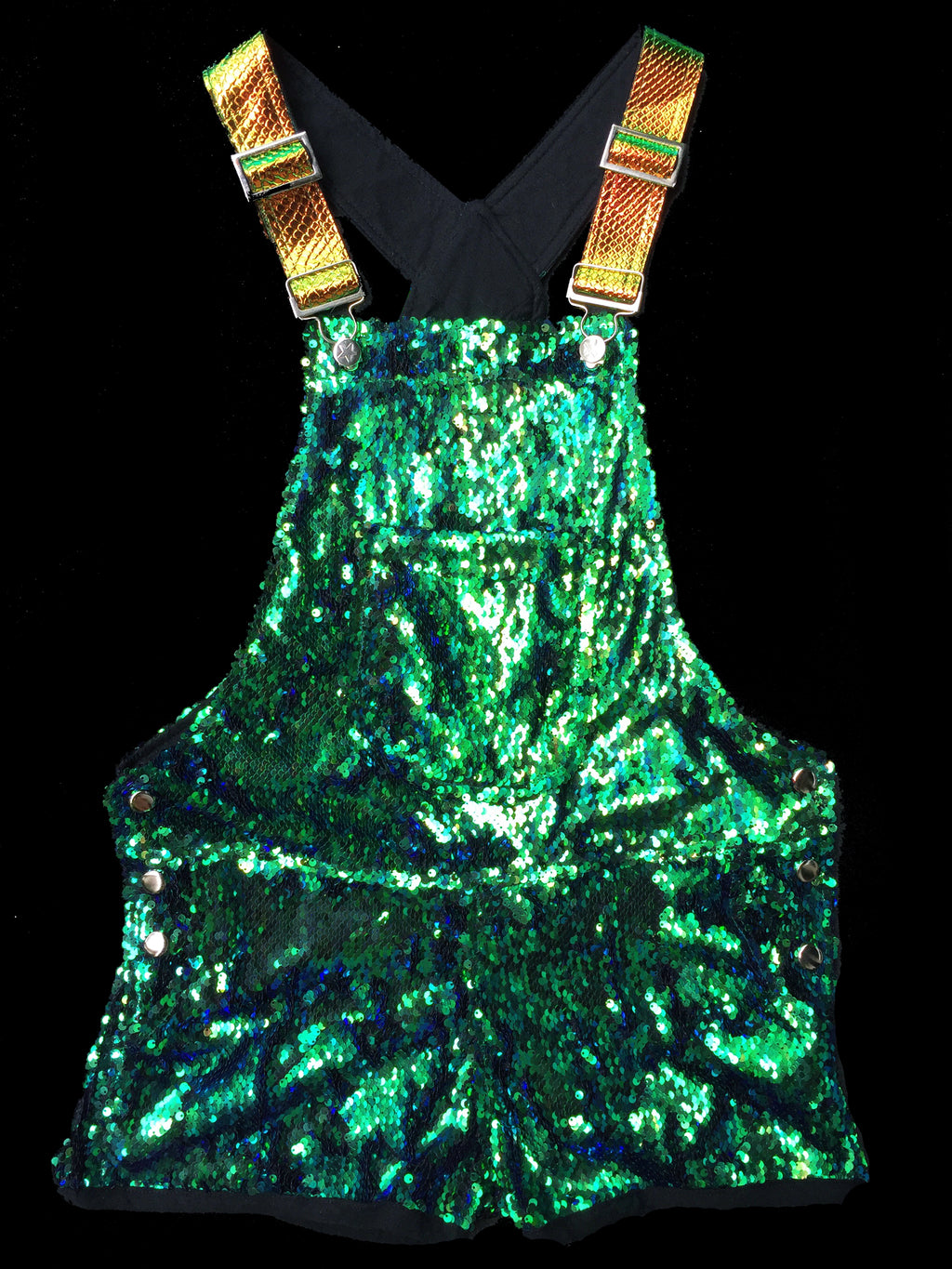 Sea Serpent Short Sequin Overalls