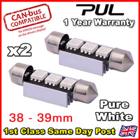 2x Seat Leon 1M1 1.8 T Cupra R Hatch Bright White LED Upgrade Number Plate 'HID' Number Bulbs 38