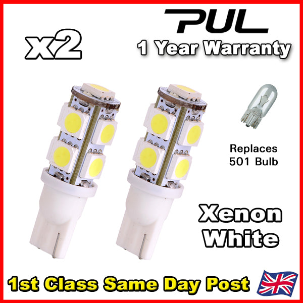 Honda Civic 01-05 Xenon White LED 501 Number Plate Bulbs 9 SMD Type R EP3 K20