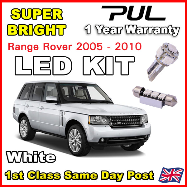 RANGE ROVER L322 2002+ INTERIOR LED LIGHTING UPGRADE KIT 18 BULB SET XENON WHITE