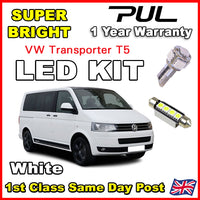 7x White LED SMD Canbus Interior Light Kit Lamp for VW T5 T5.1 T6 Transporter