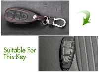 Leather Car Key Fob Case Remotes Cover for Ford Fiesta Focus Mondeo Kuga