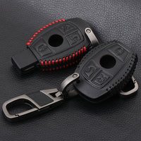 Leather Car Styling Key Cover Case For Mercedes Benz W211 W203 W204 W210 AMG Class