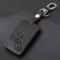 Genuine Leather Car Key Cover Holder for Renault Sport Clio 200 220 turbo Trophy