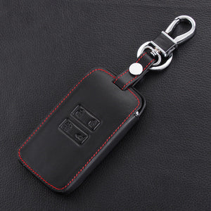 1X Black Car Leather Smart Key Cover Case Protector For Renault Kadjar 2016 / 2017